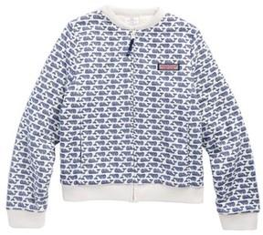Vineyard Vines Girl's Reversible Fuzzy Sweater