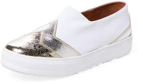 F-Troupe Women's Flash Metallic Slip-On Sneaker