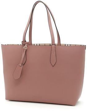 Burberry Medium Reverse Shopping Bag - LIGHT ELDERBERRY|ROSA - STYLE