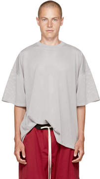 Fear Of God Grey Mesh Oversized T-Shirt