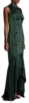 Shoshanna Floral Satin Gown