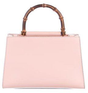Gucci 2017 Small Nymphaea Bamboo Top Handle Bag - PINK - STYLE