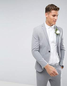 Selected Super Skinny Wedding Suit Jacket With Stretch