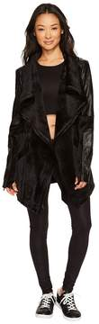 Blanc Noir Drape Velour Jacket Women's Coat