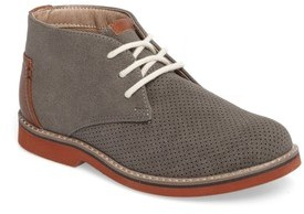 Steve Madden Boy's Baden Perforated Chukka Shoe