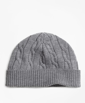 Brooks Brothers Merino Wool Cable Hat