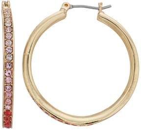 Dana Buchman Pink Ombre Nickel Free Hoop Earrings