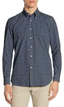 Luciano Barbera Garment Dyed Snowflake Cotton Sportshirt