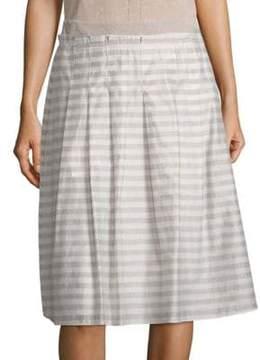 Peserico A-Line Stripe Skirt