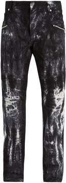 Balmain Tie-dye effect skinny biker jeans
