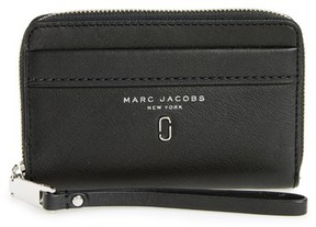 Marc Jacobs Women's Tied Up Leather Phone Wristlet - Black - BLACK - STYLE