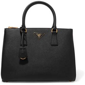 Prada Galleria Large Textured-leather Tote - Black