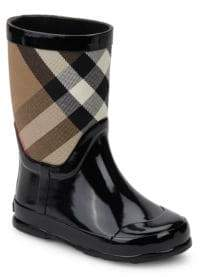 Burberry Baby's & Toddler's House Check Rubber Rain Boots