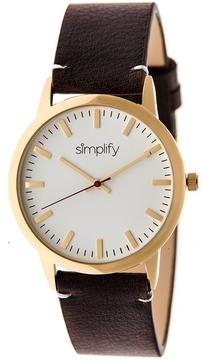 Simplify The 2800 Collection SIM2805 Unisex Watch with Leather Strap