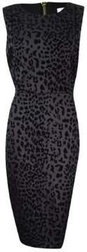 Calvin Klein Women's Flocked Sheath Dress