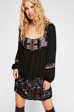 Rhiannon Embroidered Mini Dress