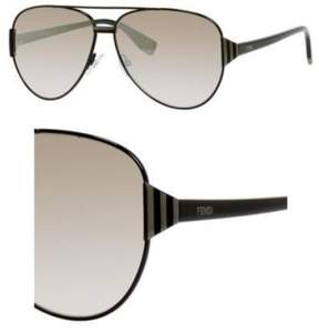 Fendi Sunglasses 18 /S 07SB Shiny Black / NQ brown mirror gradient lens