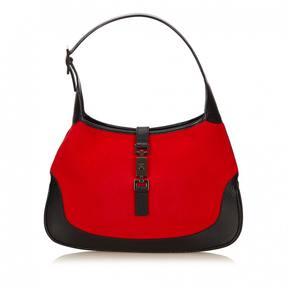 Gucci Jackie wool handbag - BURGUNDY - STYLE