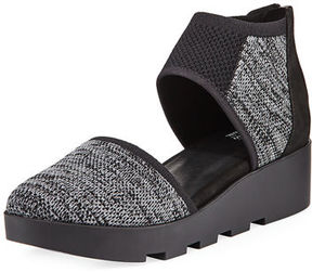 Eileen Fisher Ogden Stretch-Knit Two-Piece Wedge Sneaker