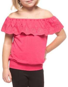 Dex Little Girl's Embroidered Off-the-Shoulder Top