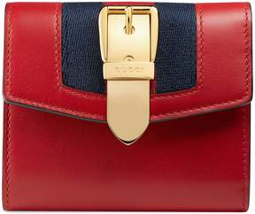 Gucci Sylvie leather wallet - HIBISCUS RED LEATHER - STYLE
