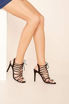 Forever 21 Strappy Stiletto Sandals