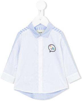 Fendi Kids striped panel shirt