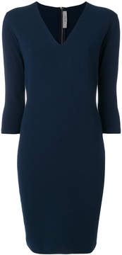 D-Exterior D.Exterior fitted V-neck dress