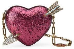 Gucci Broadway Glitter Heart Minaudiere - Pink - PINK - STYLE