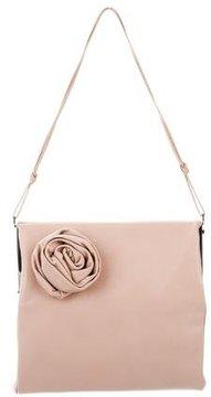 Gucci Leather Rosette Frame Shoulder Bag - NEUTRALS - STYLE