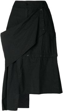 Barbara I Gongini asymmetric midi skirt