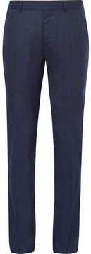 Caruso Blue Slim-Fit Mélange Wool Trousers