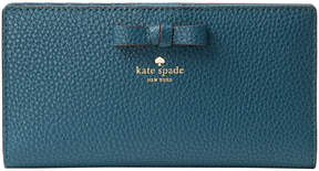 Kate Spade Emerald Forest Pershing Street Stacy Leather Wallet
