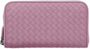 Bottega Veneta Purple Intrecciato Continental Zip Around Wallet