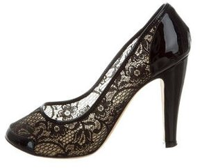 Marc Jacobs Lace Round-Toe Pumps