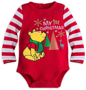 Disney Winnie the Pooh ''My 1st Christmas'' Cuddly Bodysuit for Baby