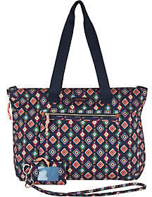 Vera Bradley Lighten Up Expandable Tote with IDCase & Lanyard