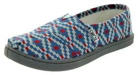 Toms Kids Classic Diamond Woven Casual Shoe.