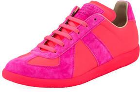Maison Margiela Men's Neon Replica Low-Top Sneakers