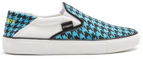 Vetements Houndstooth-print slip-on trainers