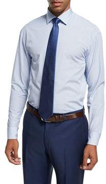 Armani Collezioni Plaid Cotton Dress Shirt, Blue/White