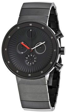 Movado Open Box Edge Black Ion-plated Stainless Steel Men's Watch