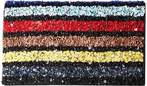 Alice + Olivia Multi Stripe Be Clutch Clutch Handbags