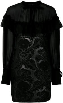 Christian Pellizzari floral brocade mini dress
