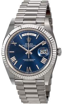 Rolex Day-Date 40 Blue Dial 18K White Gold President Automatic Men's Watch