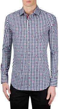 Bugatchi Men's Shaped Fit Gingham Sport Shirt