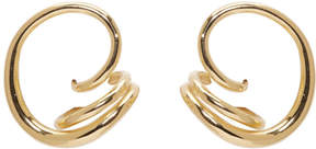 Charlotte Chesnais Gold Round Trip Earrings