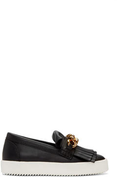 Giuseppe Zanotti Black May London Fringed Sneakers
