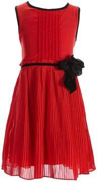 Kate Spade Little Girls 2-6 Pleated Rosette Chiffon Dress