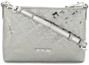 Love Moschino embossed logo clutch